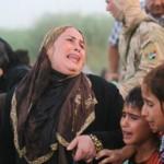 从拉马迪逃出的难民抵达首都巴格达郊区。